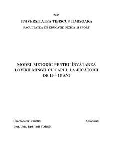 Model Metodic Pentru Invatarea Lovirii Mingii cu Capul la Jucatorii de 13–15 Ani - Pagina 2