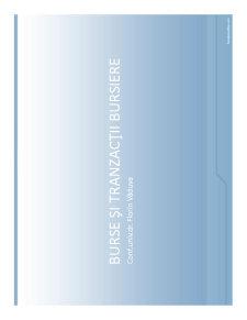 Burse și Tranzacții Bursiere - Pagina 1
