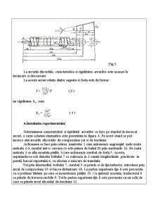 Determinarea Experimentala a Caracteristicii si a Rigiditatii Arcurilor Elicoidale - Pagina 4