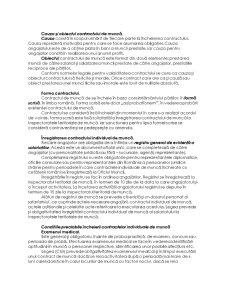 Dreptul Muncii - Contractul Individual de Munca - Pagina 4