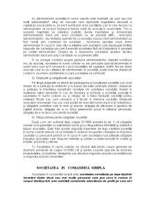 Societatea in Nume Colectiv, Societatea in Comandita Simpla, Societatea cu Raspundere Limitata - Pagina 2