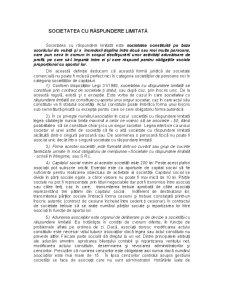 Societatea in Nume Colectiv, Societatea in Comandita Simpla, Societatea cu Raspundere Limitata - Pagina 5