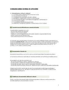 Comunicarea Scrisa in Afaceri - Pagina 1