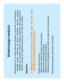 Biotehnologia Mediului - Pagina 1