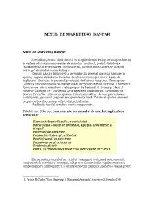 Mixul de Marketing Bancar - Pagina 1