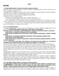 Audit 2010 - Pagina 1