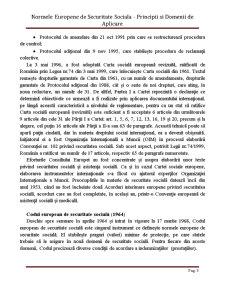 Normele Europene de Securitate Sociala - Principii si Domenii de Aplicare - Pagina 3