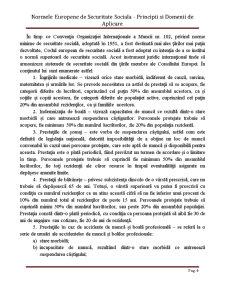 Normele Europene de Securitate Sociala - Principii si Domenii de Aplicare - Pagina 4