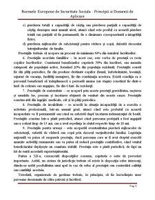 Normele Europene de Securitate Sociala - Principii si Domenii de Aplicare - Pagina 5