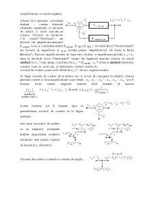 Dispozitive si Circuite Electronice - Teoria Reactiei Negative - Amplificatoare TRN - Pagina 1