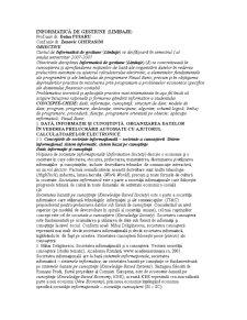 Informatică de Gestiune - Pagina 1