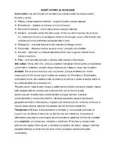 Istoria Ecologiei - Pagina 1