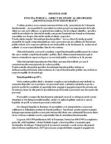 Deontologia Functiei Publice - Pagina 1