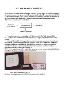 Microcalculatorul Personal HC-85 - Pagina 1