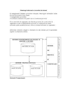 Tehnologii Informatice în Mediul Decizional - Pagina 1