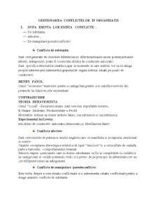 Gestionarea Conflictelor in Organizatii - Pagina 1