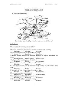 Business English - Pagina 1