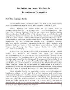 Die Leiden des Jungen Werthers în der Modernen Perspektive - Pagina 1