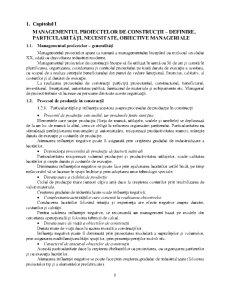 Managementul Proiectelor de Constructii – Definire Particularitati Necesitate Obiective Manageriale - Pagina 1