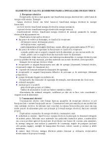Elemente de Calcul și Dimensionare a Instalațiilor Electrice - Pagina 1
