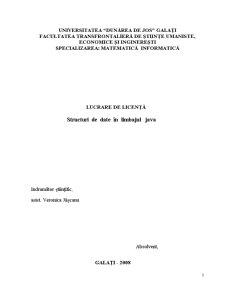 Structuri de Date în Limbajul Java - Pagina 1