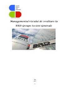 Managementul Riscului de Creditare la BRD Groupe Societe Generale - Pagina 1