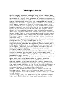 Fiziologie Animala - Pagina 1
