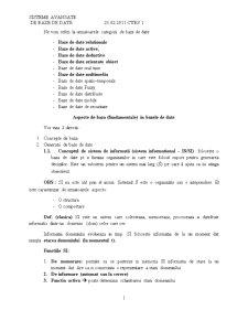 Sisteme Avansate de Baze de Date - Pagina 1