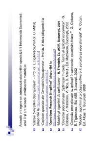 Cercetări Operaționale Aplicate în Economie - Pagina 3