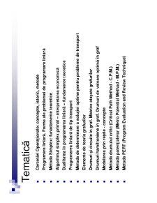 Cercetări Operaționale Aplicate în Economie - Pagina 4