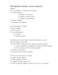 Piața Asigurărilor în România - Prezent și Perspective - Pagina 1