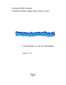 Taxa pe Valoare Adaugata (TVA) - Pagina 1
