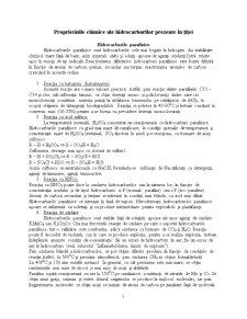 Proprietati Fizice si Chimice ale Hidrocarburilor din Titei - Pagina 1