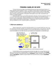 Microsoft Access 97 - Baze de Date - Pagina 1