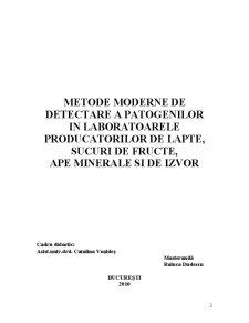 Detectarea Patogenilor în Alimentele Lichide - Pagina 2