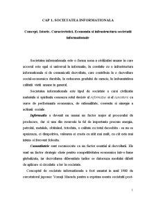 Societatea Informationala - Pagina 1