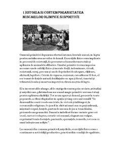 Istoria Jocurilor Olimpice. Istorie și Contemporaneitate - Pagina 1