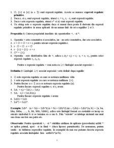 Expresii Regulate si Gramatici Regulate - Pagina 2