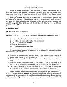 Limbaje Formale și Compilatoare - Pagina 1