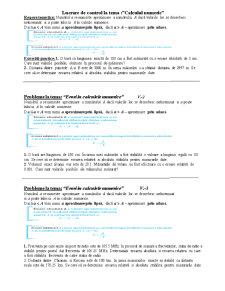 Test Erori in Calculele Numerice - Pagina 1