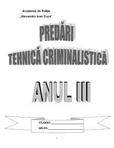 Notiunea Obiectul - Principiile Metodele si Sistemul Criminalisticii - Pagina 1