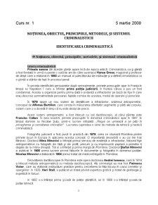 Notiunea Obiectul - Principiile Metodele si Sistemul Criminalisticii - Pagina 2