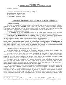 Beligeranta - Neutralitatea in Timp de Conflict Armat - Pagina 1