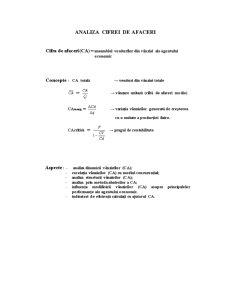 Analiza Activității de Producție și Comercializare a Agentului Economic - Pagina 5