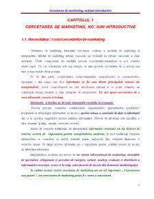 Cercetarea de Marketing - Pagina 1