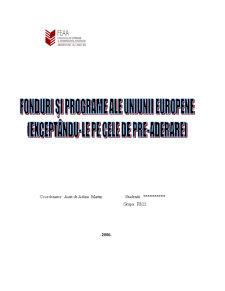 Fonduri și Programe ale Uniunii Europene - Pagina 1