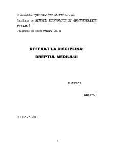 Răspunderea Civilă pentru Prejudiciile Cauzate Mediului Înconjurător - Pagina 1