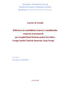 Reflectarea în Contabilitatea Bancară a Imobilizărilor Corporale și Necorporale - Pagina 1