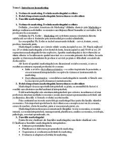 Introducere în Marketing - Pagina 1