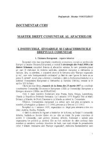 Master Drept Comunitar al Afacerilor - Pagina 1